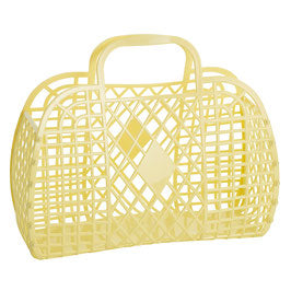 SUN JELLIES |  'Daisy' Retro Basket - Large Yellow