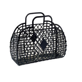 SUN JELLIES | 'Charlotte' Retro Basket - Large Black