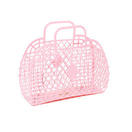 SUN JELLIES | 'Alice' Retro Basket - Large Pink