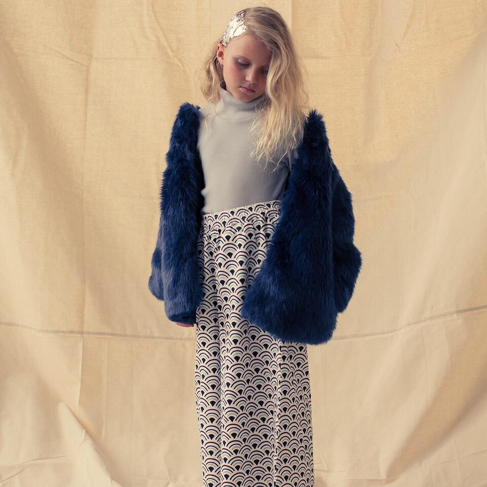 FEATHER DRUM | Francine Faux Fur Coat