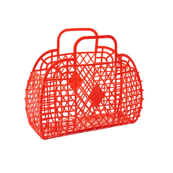 Copy of SUN JELLIES | Retro Basket - Large Red