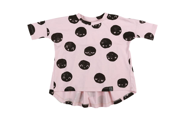 KuKuKid Oversized Moon Tunic - Pale Pink (LAST ONE SIZE 1-2)