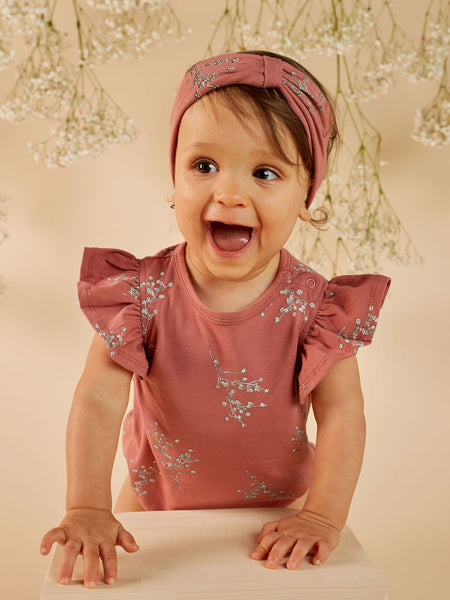 MAD ABOUT MINI | Frill Onesie - Rose Floral