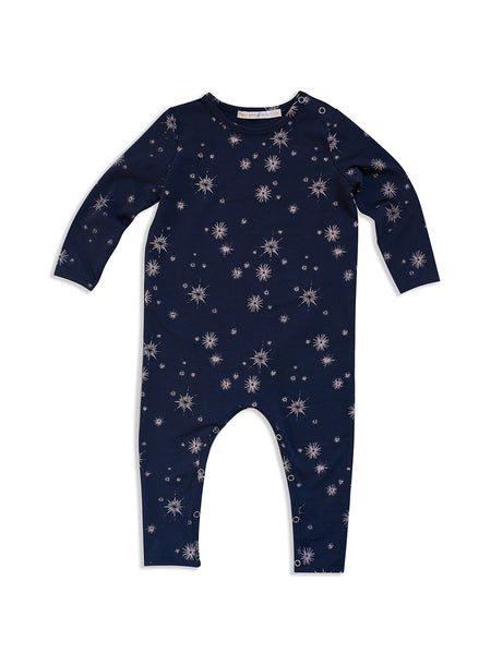 MAD ABOUT MINI |  Midnight Star Print Long Sleeve Jumpsuit