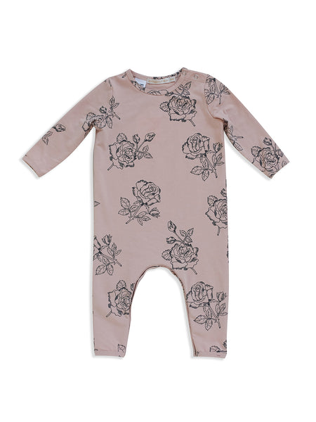 MAD ABOUT MINI |  Rose Print Long Sleeve Jumpsuit