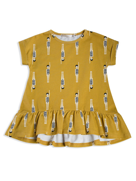 MAD ABOUT MINI | Bather Girl Tee Frill Dress (LAST ONE SIZE 8-9)