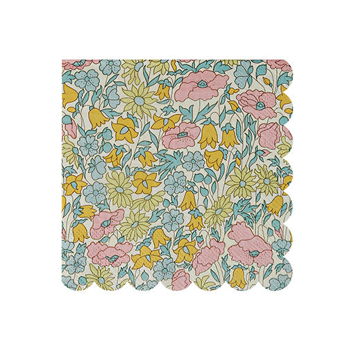 Meri Meri Liberty Poppy & Daisy Napkins - Small