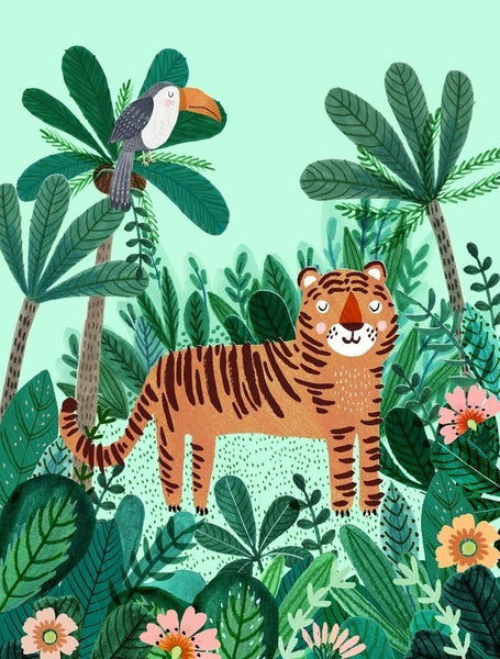 PETIT MONKEY | Tiger Poster by Rebecca Jones
