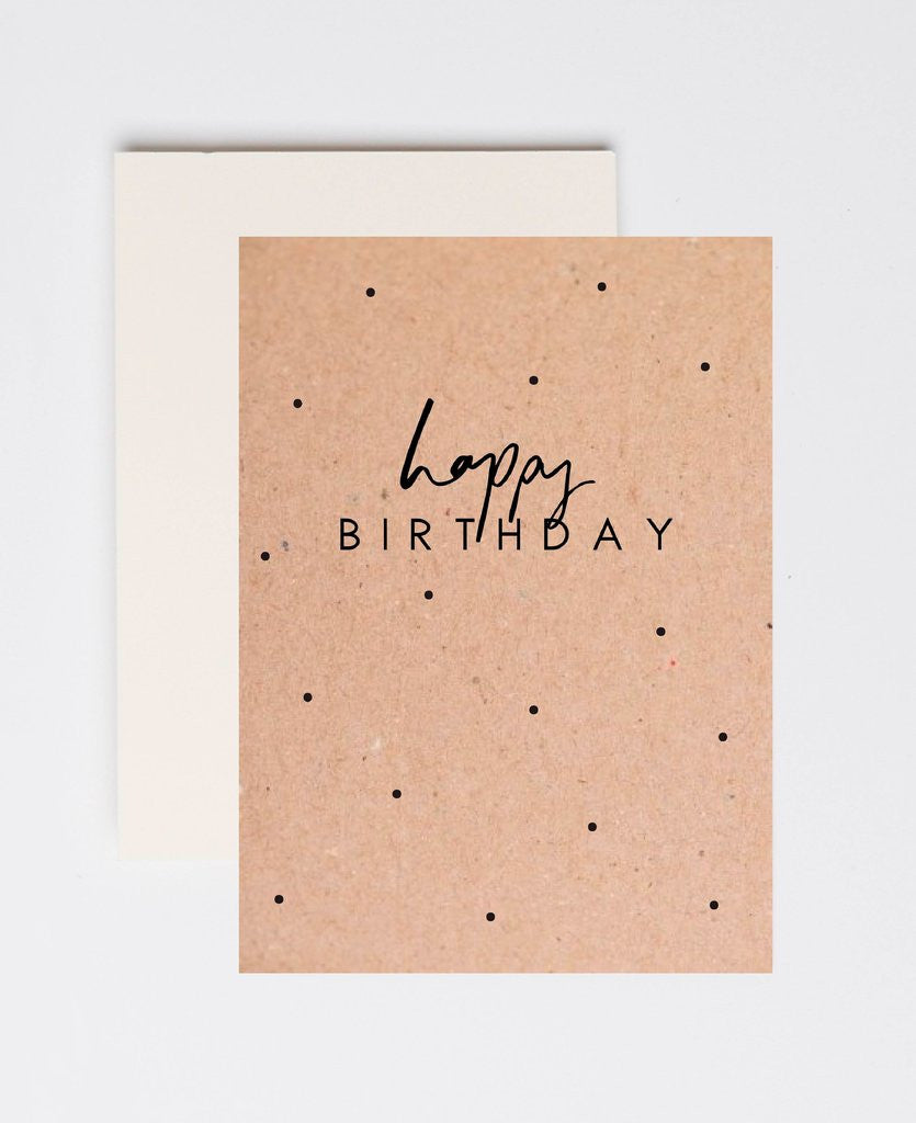 'Happy Birthday' Kraft Greeting Card by Jewel Paper Co.