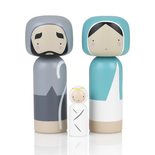 SKETCH INC. | Kokeshi Doll for Lucie Kaas - Christmas Nativity Set of 3 (WAREHOUSE SALE)