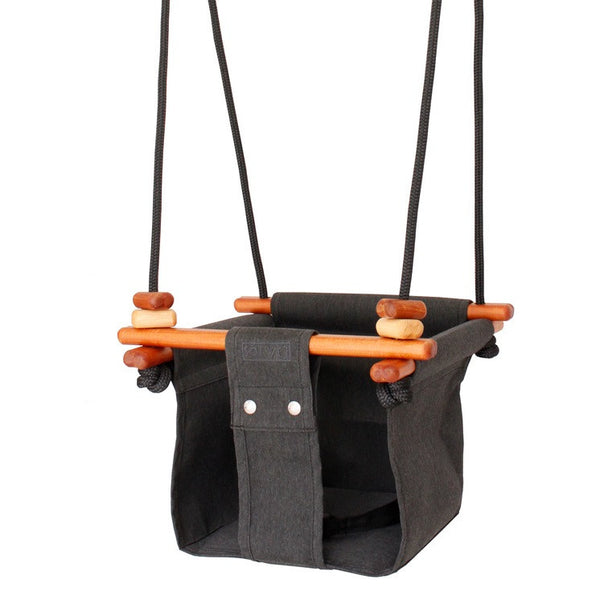 Solvej Baby & Toddler Swing - Slate Grey