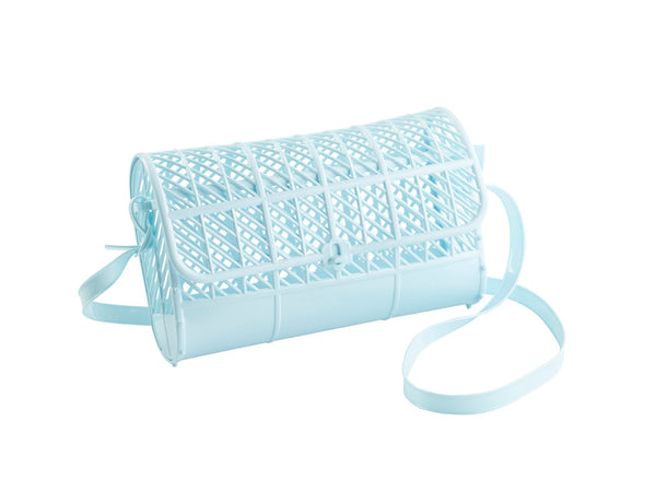 SUN JELLIES | Cross Body Satchel Purse - Light Blue (WAREHOUSE SALE)
