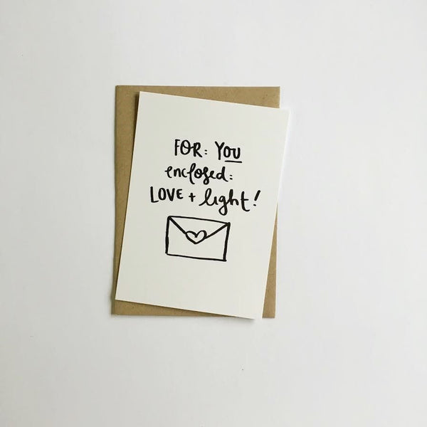 JEWEL PAPER CO | Love & Light Greeting Card  (WAREHOUSE SALE)