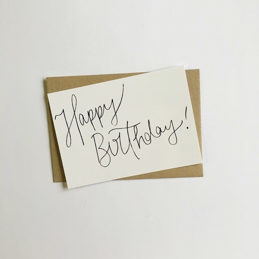 Classic Happy Birthday Greeting Card by Jewel Paper Co.