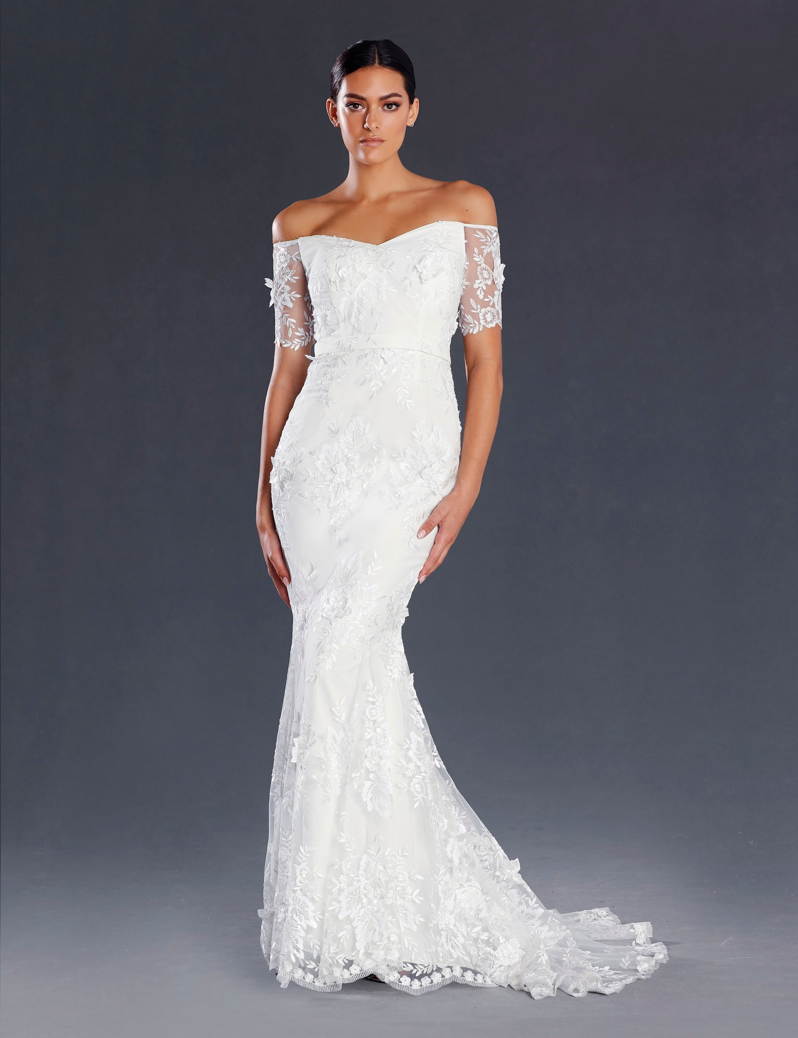 Garden Wedding Gown by Jadore   Simple Lace Bridal Dress JX20 ...