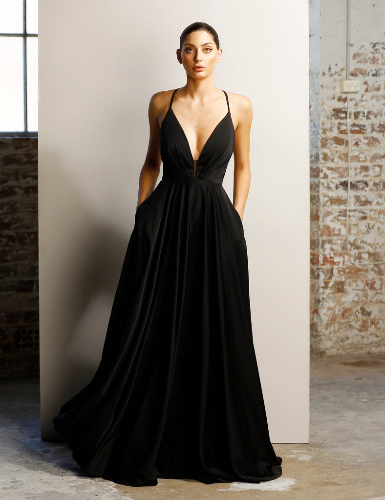 a0e7993c3d Backless Low Cut Evening Gown by Jadore