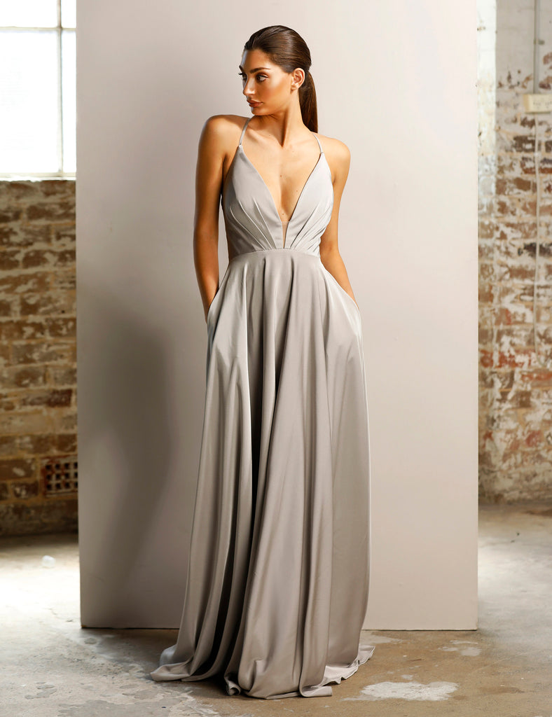 Backless Low Cut Evening Gown by Jadore | Free Delivery.JX1064 ...