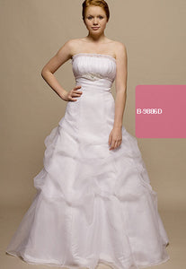 White debutante or wedding gown