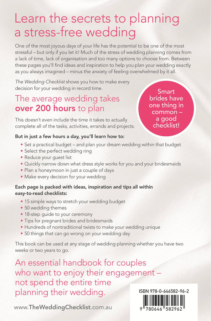 the wedding checklist purchase online rendezvous designs