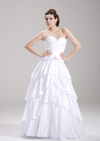 Taffeta wedding gown