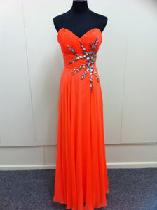 Orange Formal Gown