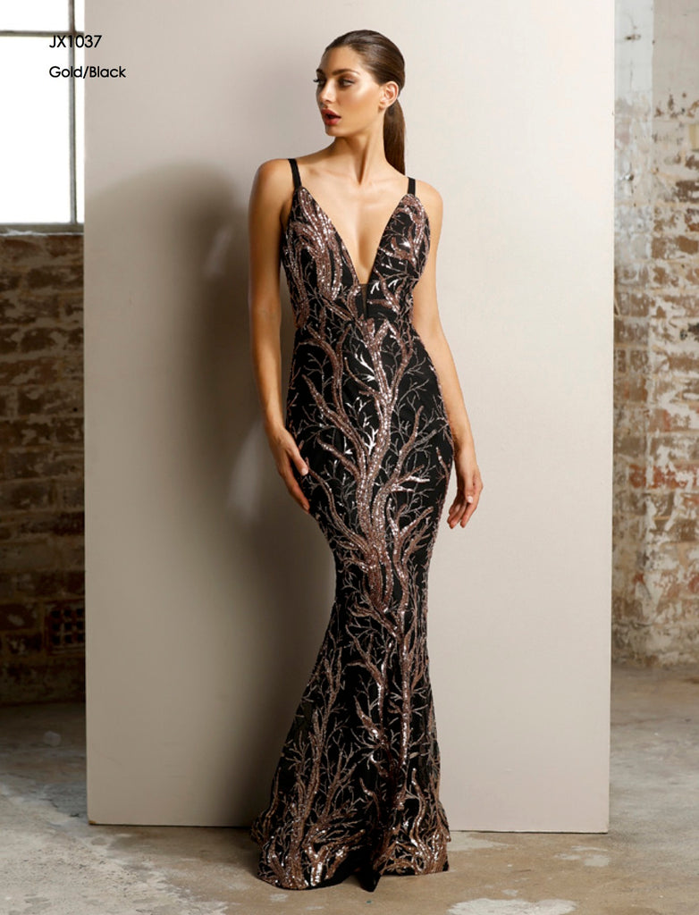 Low Back Long Sequin Gown for Formal by Jadore JX1037 | Buy Online ...