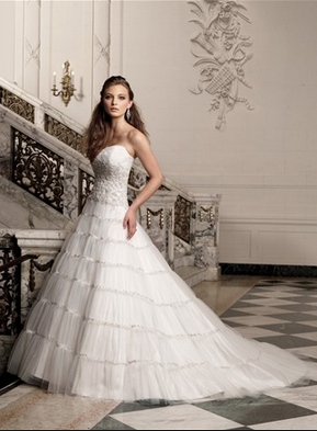 tuille wedding gown
