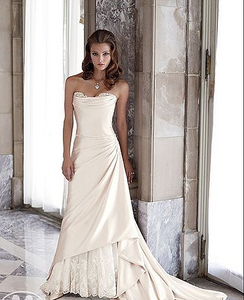 Satin wedding gown