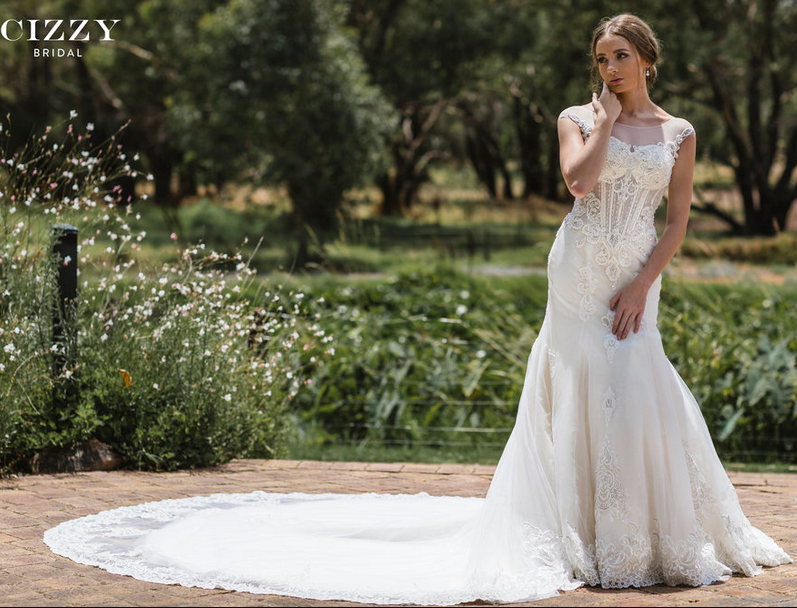 Corset Style Wedding Gown by Cizzy Bridal | Free Shipping | CZ-2427 ...
