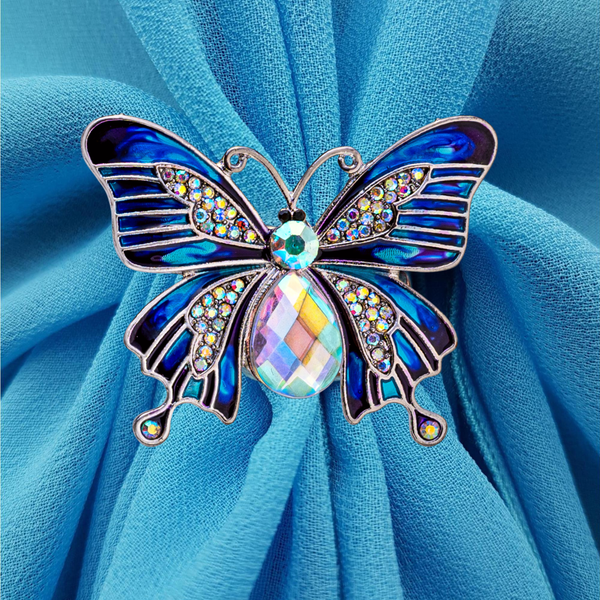 Butterfly Triple Scarf Ring - (Small Rings) in Gift Box