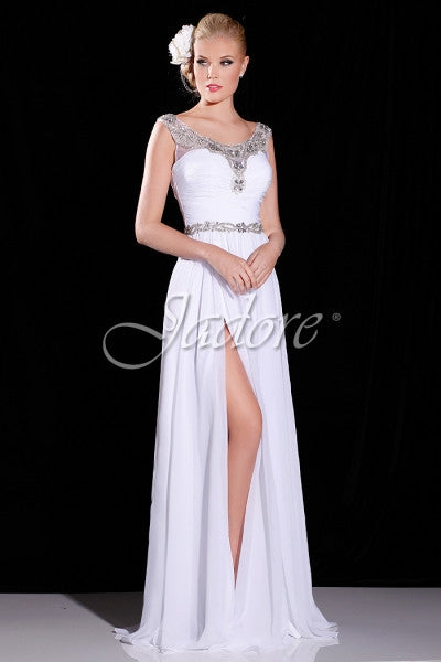 Chiffon evening gown