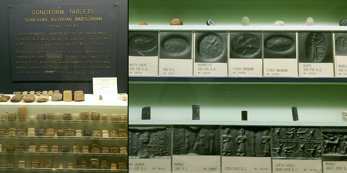 Cuneiform tablets, cylinder seals, and seal rings from the Rosicrucian Egyptian Museum