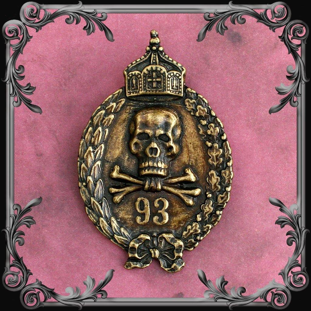 93 Medal - Antique Brass Finish