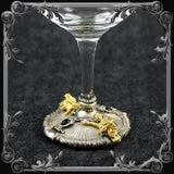 Baphomet Wine Glass - Silver and Gold Plated