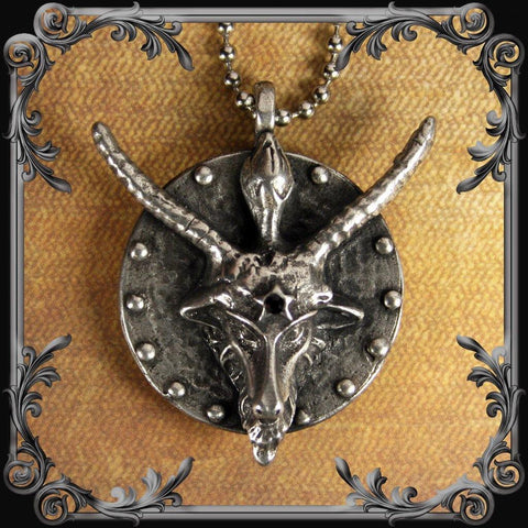 Baphomet Medallion with Black Rhinestone