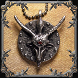 Baphomet Medallion with Red Rhinestone