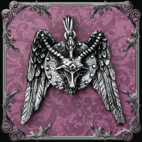 Baphomet Medallion with Wings