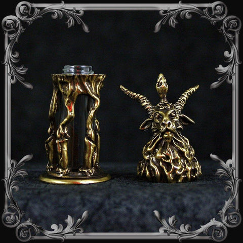 Baphomet Oil Bottle - Antique Brass Finish