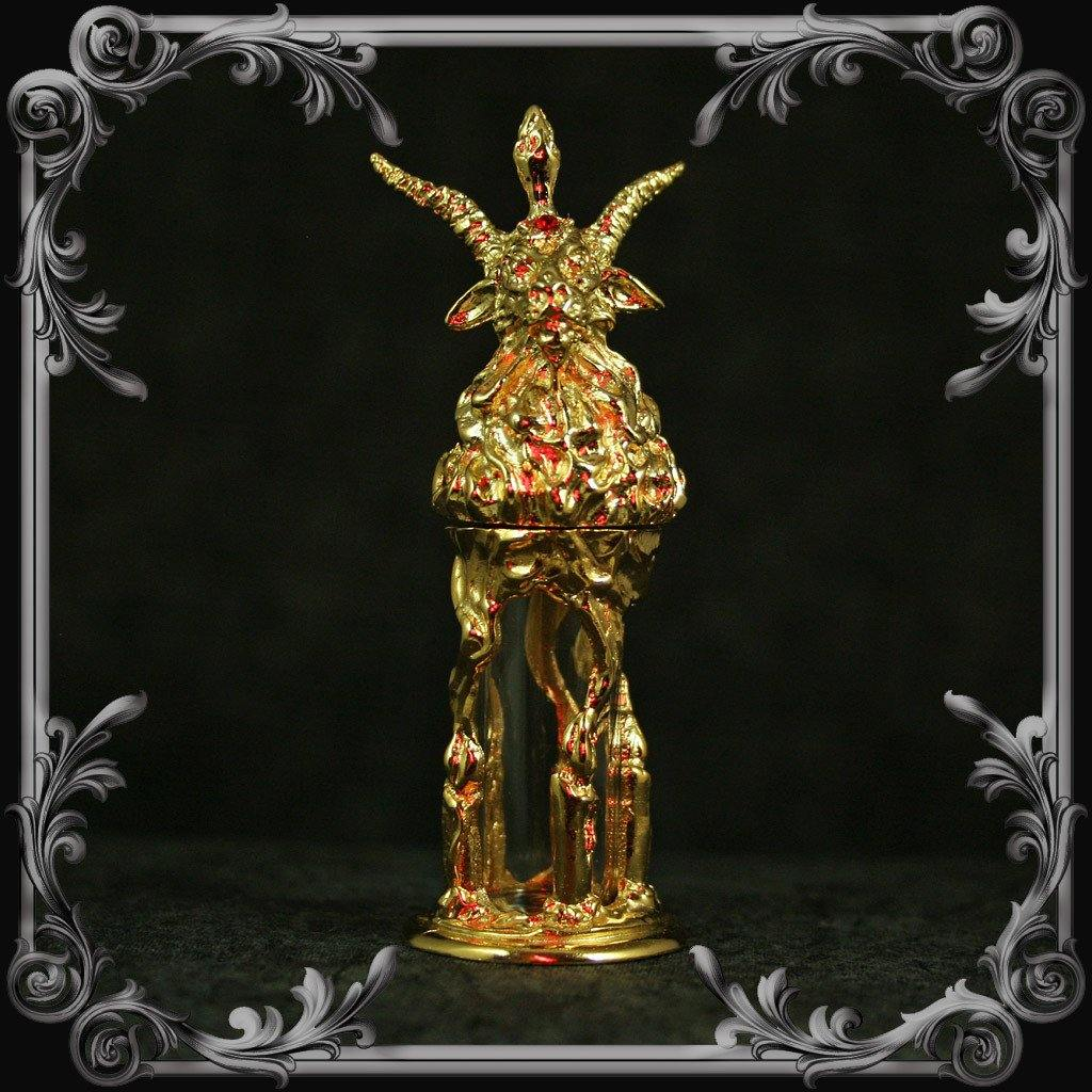 Baphomet Oil Bottle - Gold-Plated