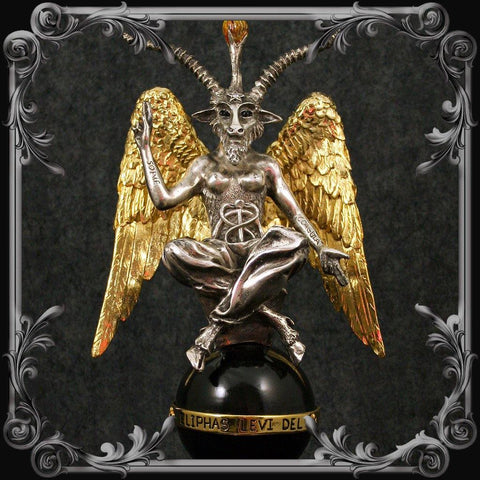 Baphomet Statue - Medium Gold & Silver Plated - MADE TO ORDER!