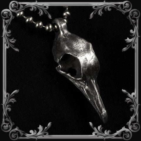 Bird Skull Pendant - Medium
