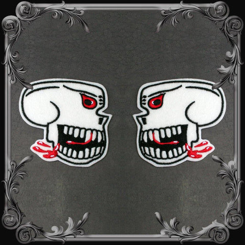 Burma Banshees Skull Patch - Pair