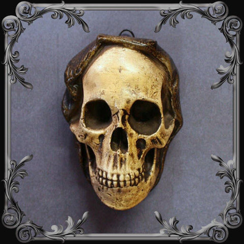 Cowled Skull Sconce