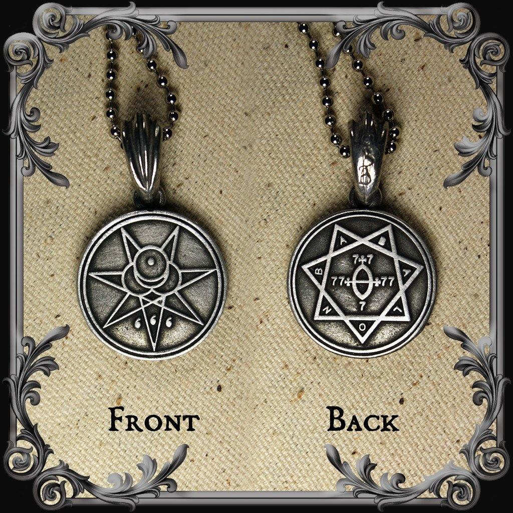 Crowley Seal and Star of Babalon Necklace