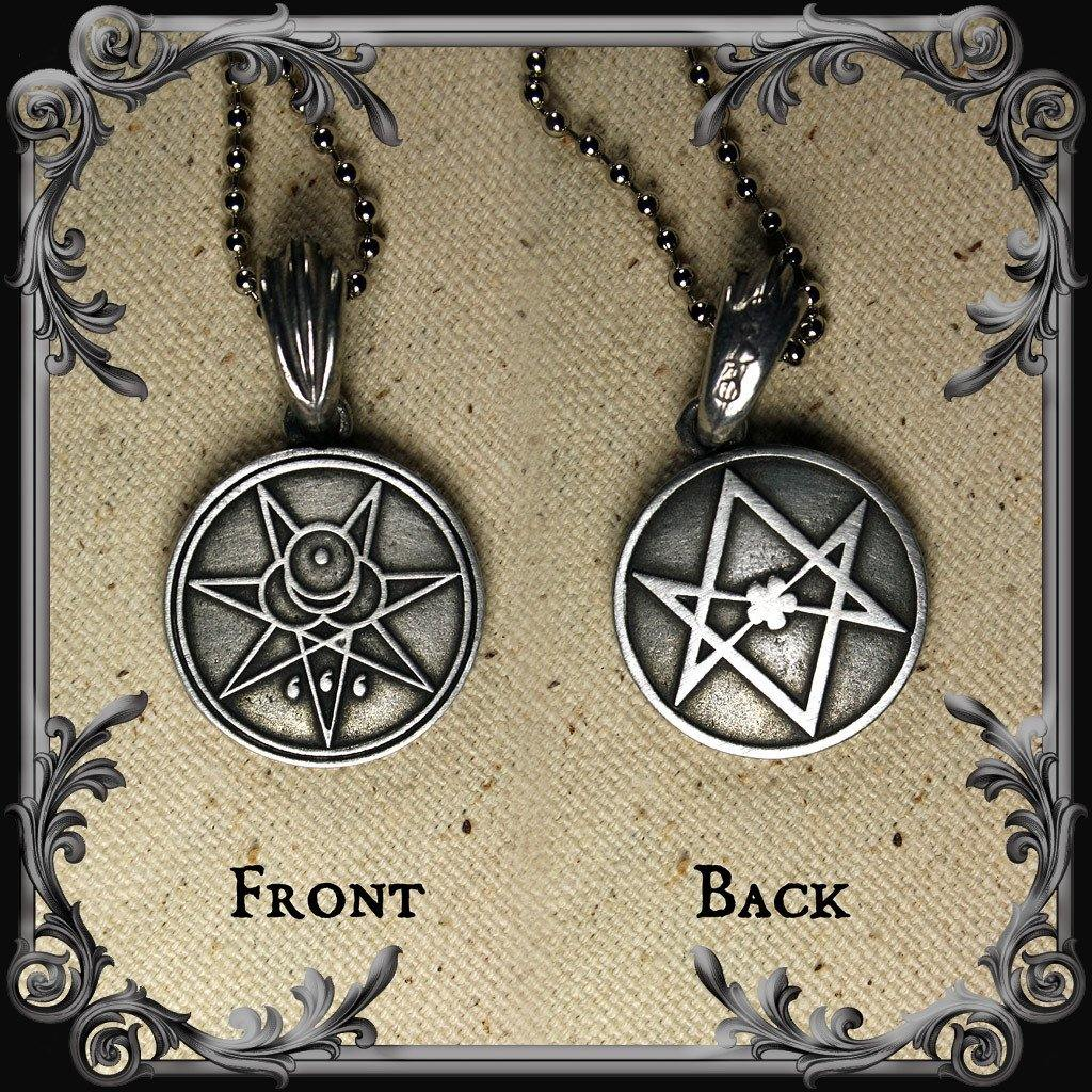 Crowley Seal and Unicursal Hexagram Necklace