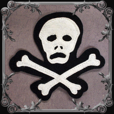 Cut & Sewn Skull & Crossbones Patch