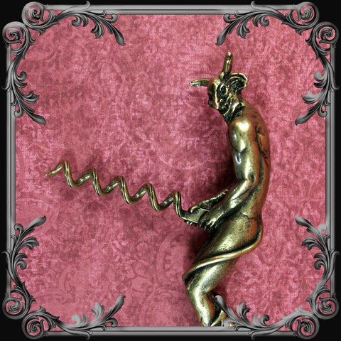 Naughty Devil Corkscrew - Antique Brass Finish