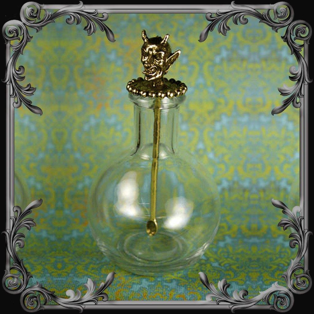 Devil Spoon with Bottle - Antique Brass Finish