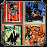 Set of 4 Halloween Themed Fridge Magnets