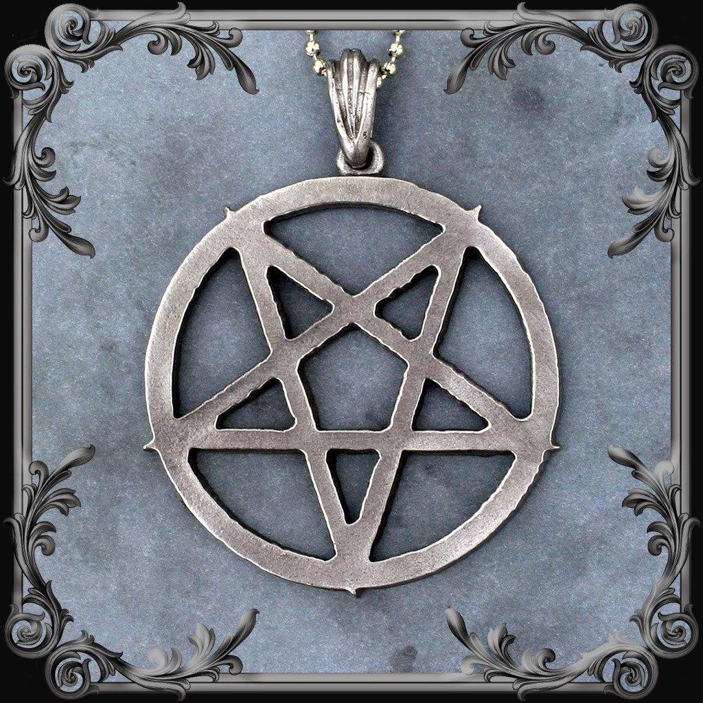 Pentagram Necklace (Inverted) - Large